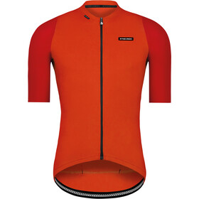 Etxeondo Alde Maillot de cyclisme Homme, red/orange